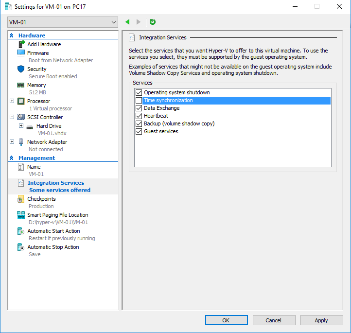 Hyper-V guest - Integration Services