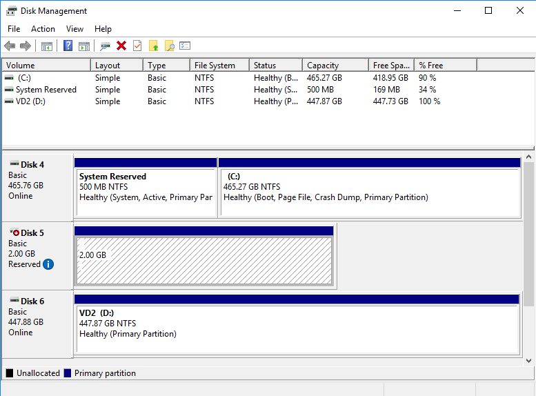 Create just the same disk