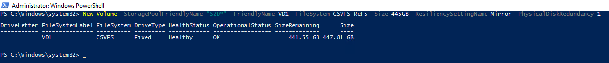 let's create one more virtual disk where the test SQL database resides.
