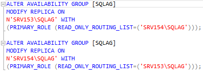Create the query for read-only routing