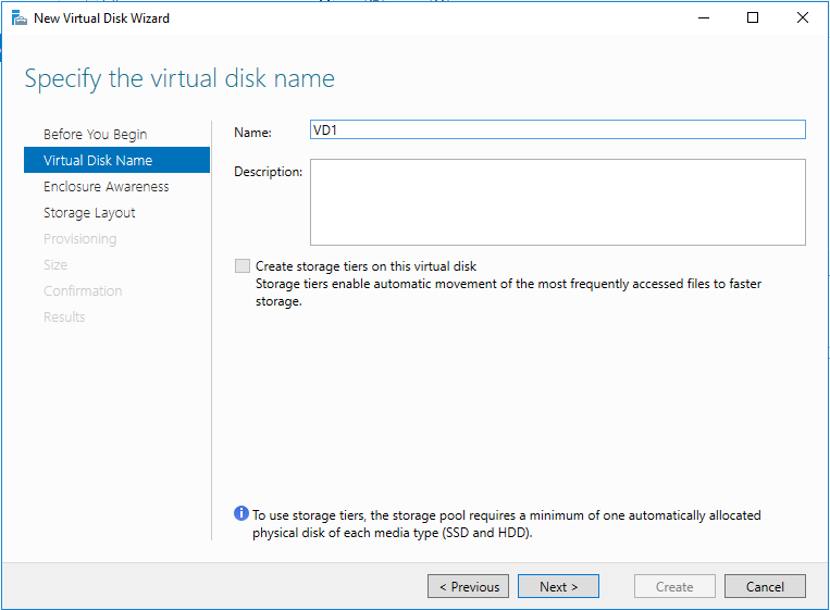 Specify the virtual disk name