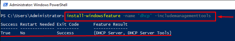 Installation and configuration of DHCP