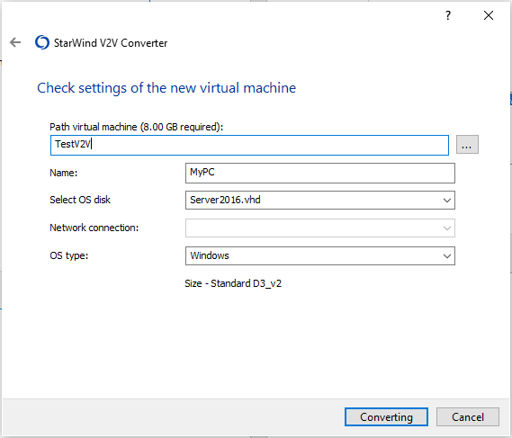 Storage accounts to store your VHDX file