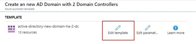 Domain controllers template