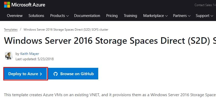 Windows Server 2016 Storage Spaces Direct (S2D) SOFS cluster